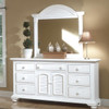 Seabrook Cottage White Triple Dresser shown with optional Dressing Mirror Room