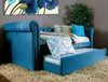 Verona Teal Twin Daybed with Trundle Room 2