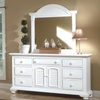 Seabrook Cottage White Dressing Mirror shown with the Triple Dresser