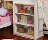 Jocelyn Pink and White Playhouse Loft Bed Bookcase Detail