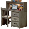 Harley Driftwood Student Desk shown with Optional Corkboard Hutch (chair is no longer available)
