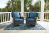 Carlsbad Set of 2 Outdoor Patio Lounge Chairs with Cushions