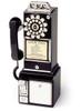 1950's Public Payphone black