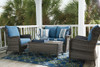 Carlsbad Outdoor Patio Loveseat Glider and Table