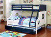 SS Ulysses Twin over Full Bunk Bed shown with Optional Twin Trundle Room