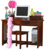 Ferguson Brown Cherry Student Desk with Hutch