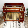 Stella Chestnut Twin over Full Low Bunk Beds for Kids Slatted Ends Top View Room
