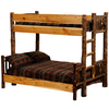 Whistler Bunk Bed Traditional Hickory twin xl over queen size