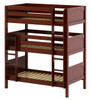 Stella Chestnut Twin Triple Bunk Bed-Panel Ends