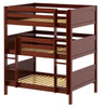 Stella Chestnut Full Size Triple Bunk Bed-Panel Ends