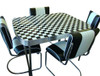 Classic Chevy 1950s Formica Kitchen Table and Chairs