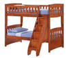 Hollywood White Twin over Twin Bunk Bed with Steps (Shown in Cherry)