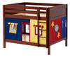 Whistle Stop Chestnut Low Full Size Kids Playhouse Bunk Bed-Panel Ends