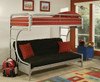 Cabot Silver Twin XL over Queen Futon Bunk Bed Room
