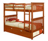 Park City Twin over Twin Bunk Bed shown with Optional Twin Trundle