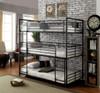 Reston Metal Triple Twin Bunk Bed Room