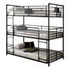 Reston Metal Triple Twin Bunk Bed