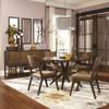 Metropolitan Hazelnut Round Dining Table Set in room