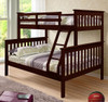 Weatherford Dark Cappuccino Twin over Full Bunk Beds Room