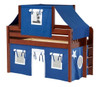 Caleb's Chestnut Twin Boys Playhouse Loft Bed-Panel Ends
