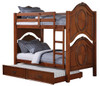 Nob Hill Cherry Twin over Twin Bunk Beds shown with Optional Twin Trundle