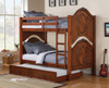 Nob Hill Cherry Twin over Twin Bunk Beds shown with Optional Twin Trundle Room