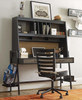 Denali Weathered Brown & Black Desk Hutch
