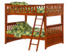 Eastwood Cherry Full over Full Bunk Beds