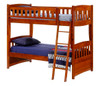 Eastwood Cherry Twin over Twin Bunk Beds