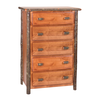 Whistler Five Drawer Chest Traditional Hickory