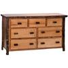 Whistler Seven Drawer Dresser Traditional Hickory