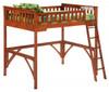 Eastwood Cherry Full Wood Loft Bed