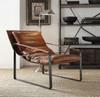 Joshua Cocoa Top Grain Leather Accent Chair Room