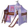Purple Princess Chestnut Girls Loft Bed