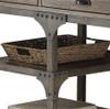 Karl Driftwood Office Desk Shelf Detail
