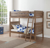 Trig Twin over Twin Bunk Bed Washed Oak Room