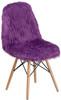 Faux Yeti Accent Chair Purple