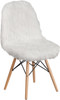 Faux Yeti Accent Chair White