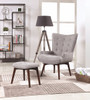 Winter Sky Accent Chair with Ottoman