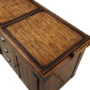 Aldric Distressed Tobacco Industrial Serving Cart Top View