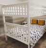 Lily White Queen over Queen Bunk Bed Room
