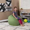 Green Bean Bag Chairs for Kids with Kid Room