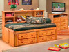 Gracie Amber Big Bookcase Twin Bed with Storage Room
