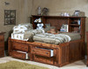 Gracie Cocoa Big Bookcase Twin Bed with Storage
