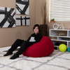 Red Bean Bag Chairs for Kids with Kid Room