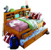 Ravenswood Honey Big Bookcase Twin Trundle Bed with Storage