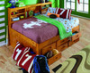 Ravenswood Honey Big Bookcase Full Bed with Storage Room
