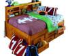 Ravenswood Honey Big Bookcase Full Bed with Storage