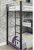 Zenith Metal Twin Corner Triple Bunk Bed Long Ladder Detail