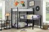 Zenith Metal Twin Corner Triple Bunk Bed Room